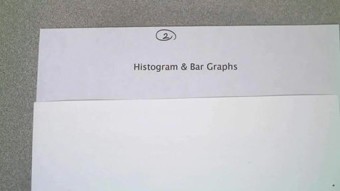 Thumbnail for entry HIstograms and Bar Graphs