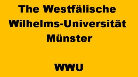 Thumbnail for entry WWU in Muenster video