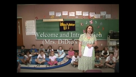 Thumbnail for entry Kindergarten Informance - Welcome and Introduction