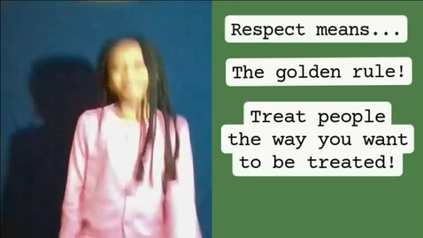 Thumbnail for entry 5th grade respect video!