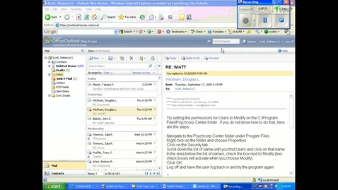 Thumbnail for entry Webmail- Emptying deleted items and sent items