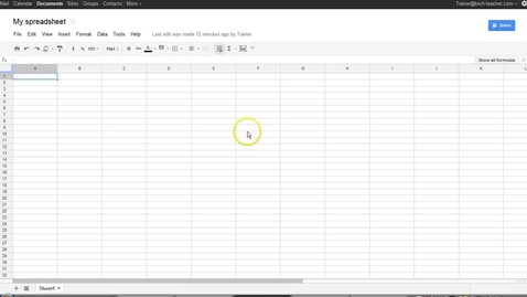 Thumbnail for entry Google® Spreadsheet Menus and Toolbars