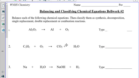 Thumbnail for entry TT Predicting Products of Chemical Equations notes