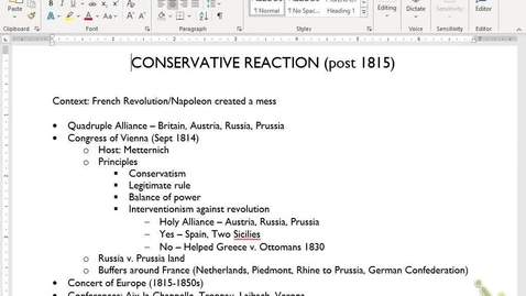 Thumbnail for entry Euro Review 10: Conservative/Revolutions 1815-1848