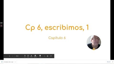 Thumbnail for entry CP 6 ESCRIBIMOS 1