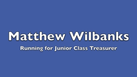 Thumbnail for entry 11th Treasurer Matthew