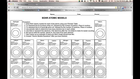 Thumbnail for entry Lesson on Completing Bohr Diagrams