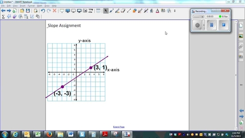 Thumbnail for entry Slope- using the slope formula