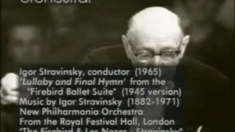 Thumbnail for entry Stravinsky Conducts Firebird