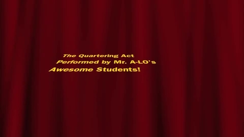Thumbnail for entry The Quartering Act