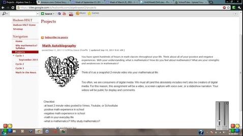 Thumbnail for entry Math Autobiograhpy