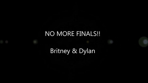 Thumbnail for entry No more finals