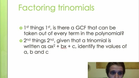 Thumbnail for entry Factoring finding a, b and c