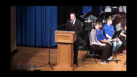 Thumbnail for entry 2012 Veterans Day Assembly (Wahoo, Nebraska)