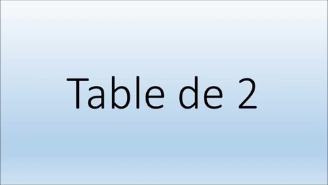 Thumbnail for entry Addition  Table de 2