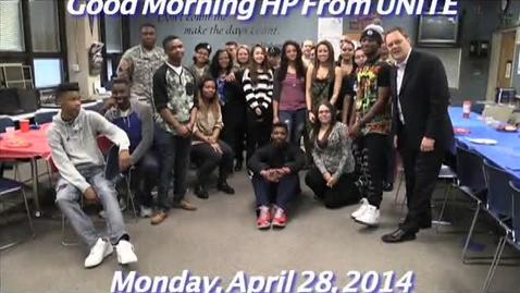 Thumbnail for entry Monday, April 28, 2014