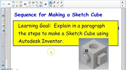 Thumbnail for entry Sketch Cube Intro (Inventor)
