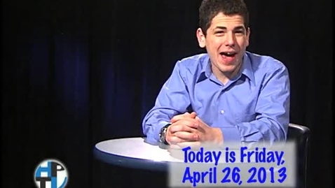 Thumbnail for entry Friday, April 26, 2013