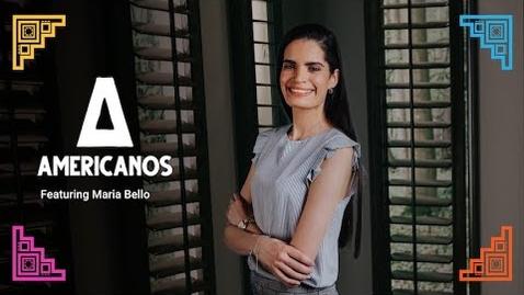 Thumbnail for entry Americanos: Maria Bello, Venezuela
