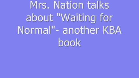 Thumbnail for entry MWMS Book Talk-Waiting for Normal