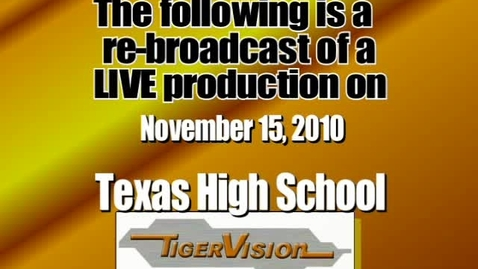 Thumbnail for entry TigerVision LIVE Announcements 11-15-10