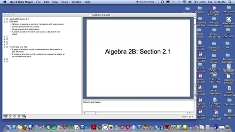 Thumbnail for entry Algebra 2B Section 2.1