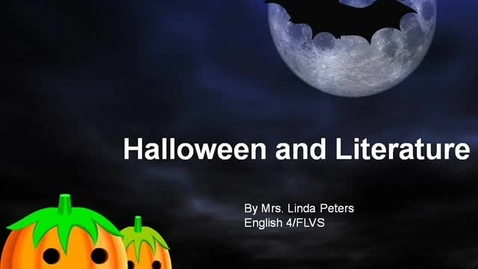 Thumbnail for entry Halloween and Literature