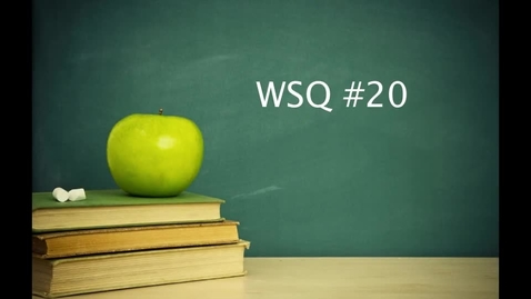 Thumbnail for entry Life Science WSQ #20