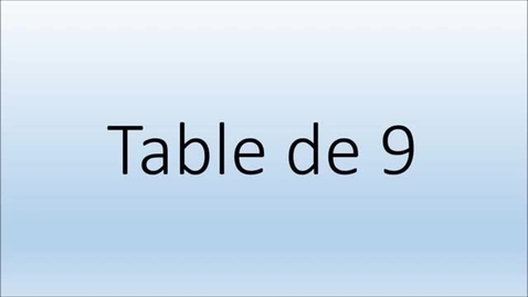 Thumbnail for entry Addition Table de 9