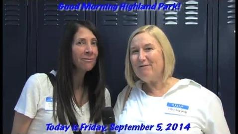 Thumbnail for entry Friday, September 5, 2014