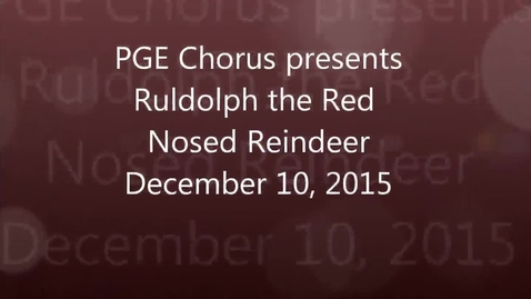 Thumbnail for entry Rudolph the Red Nosed Reindeer