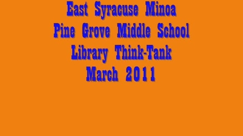 Thumbnail for entry Pine Grove Library Think-Tank