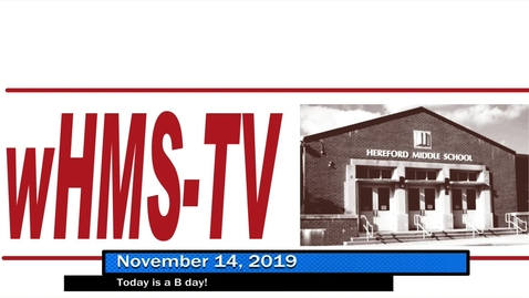 Thumbnail for entry WHMS Morning Show November 14, 2019
