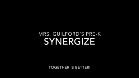 Thumbnail for entry Mrs. Guilford's PreK Leader in Me Session