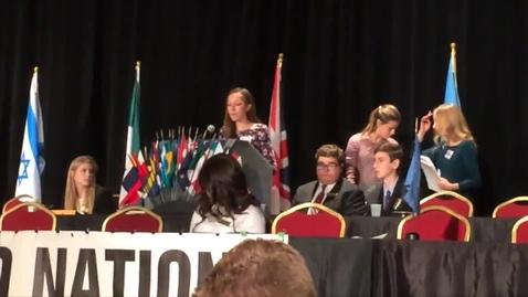 Thumbnail for entry Ohio Model UN Authors Speech - Senior 2015, Belize