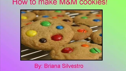 Thumbnail for entry M&M Cookie Recipe