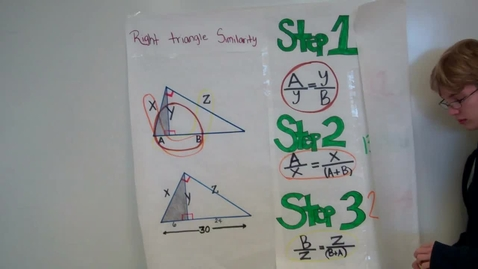 Thumbnail for entry Similarity in Right Triangles