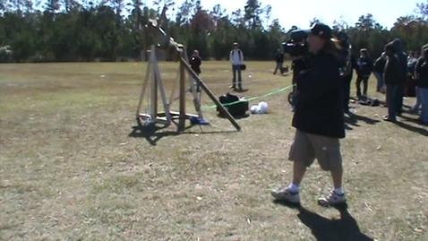 Thumbnail for entry Keenan Trebuchet -28 Yard Accuracy Launch