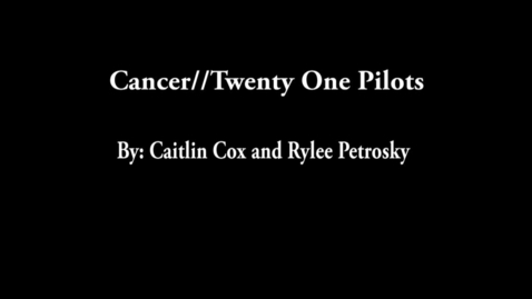 Thumbnail for entry Cancer - WSCN Music Video 2016/2017