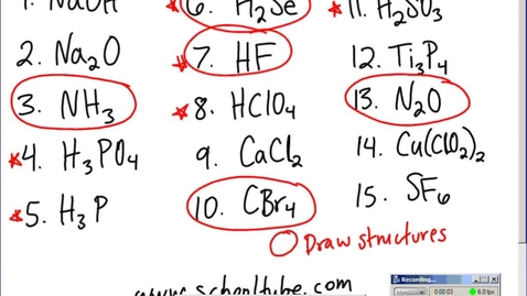 Thumbnail for entry Stephens Chemistry: (2-12-15) Drawing Molecules and Naming Review