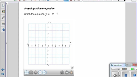Thumbnail for entry Graphing a linear equation -chandler ,sam cortez