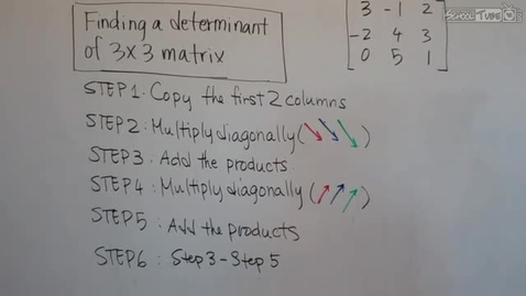 Thumbnail for entry Finding a Determinant (3x3)