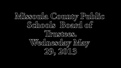 Thumbnail for entry MCPS Personnel, Negotiations and Policy Committee May 29, 2013
