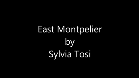 Thumbnail for entry East Montpelier Poem
