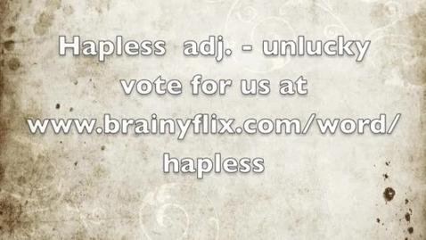 Thumbnail for entry Hapless-BrainyFlix.com Vocab Contest