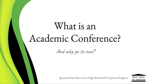 Thumbnail for entry What is an Academic Conference?