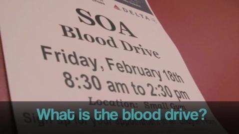Thumbnail for entry WSOA news: Blood Drive