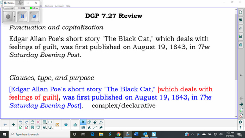 Thumbnail for entry DGP 7.27 Review