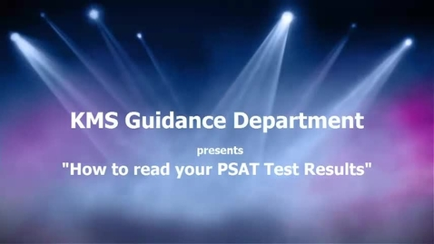 Thumbnail for entry Understanding your PSAT report