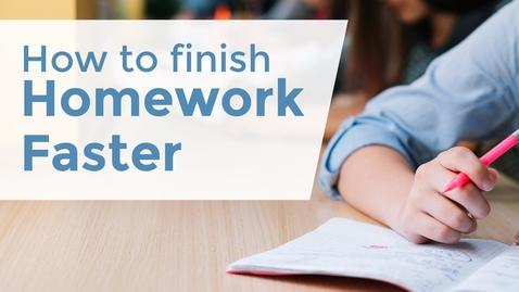 Thumbnail for entry How to Finish your Homework Faster? | Exam Tips | LetsTute